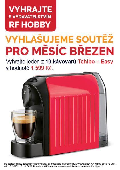 Březnová soutěž předplatitelů vydavatelství RF Hobby o 10 kávovarů Tchibo